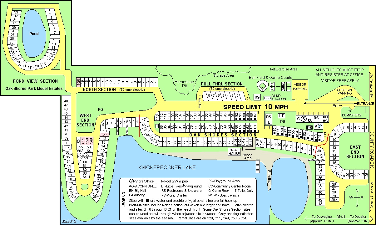 2017 Oak Shores Park Map